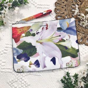Sephora Large Floral Print Wristlet